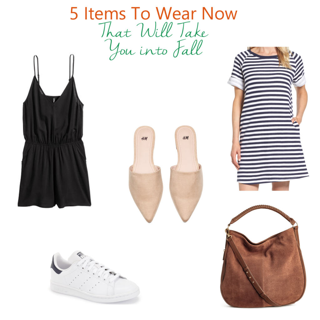 5 fall transitional pieces that you can wear in the Summer and can easily transition into fall.
