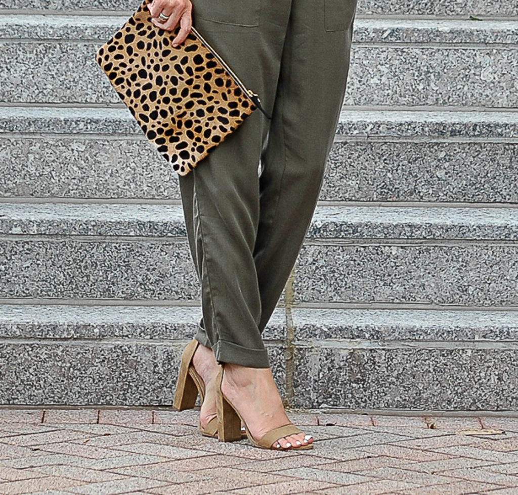 leopard olive and taupe via Peaches In A pod blog. The perfect neutral heels via Peaches In A Pod blog.