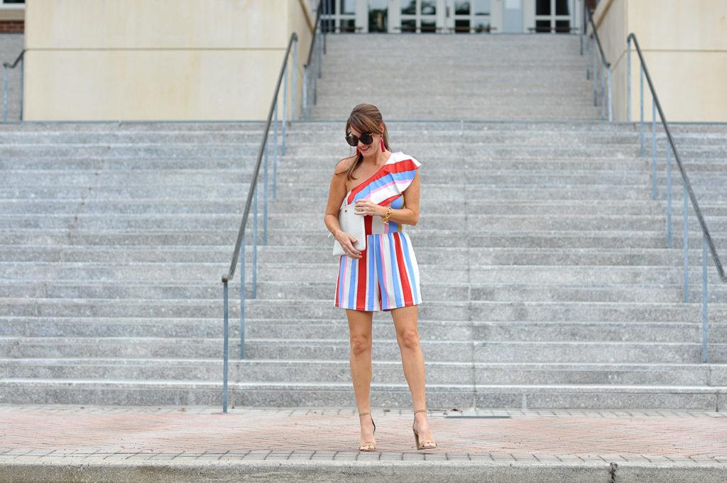 Summer date night outfit idea via Peaches In A Pod blog.