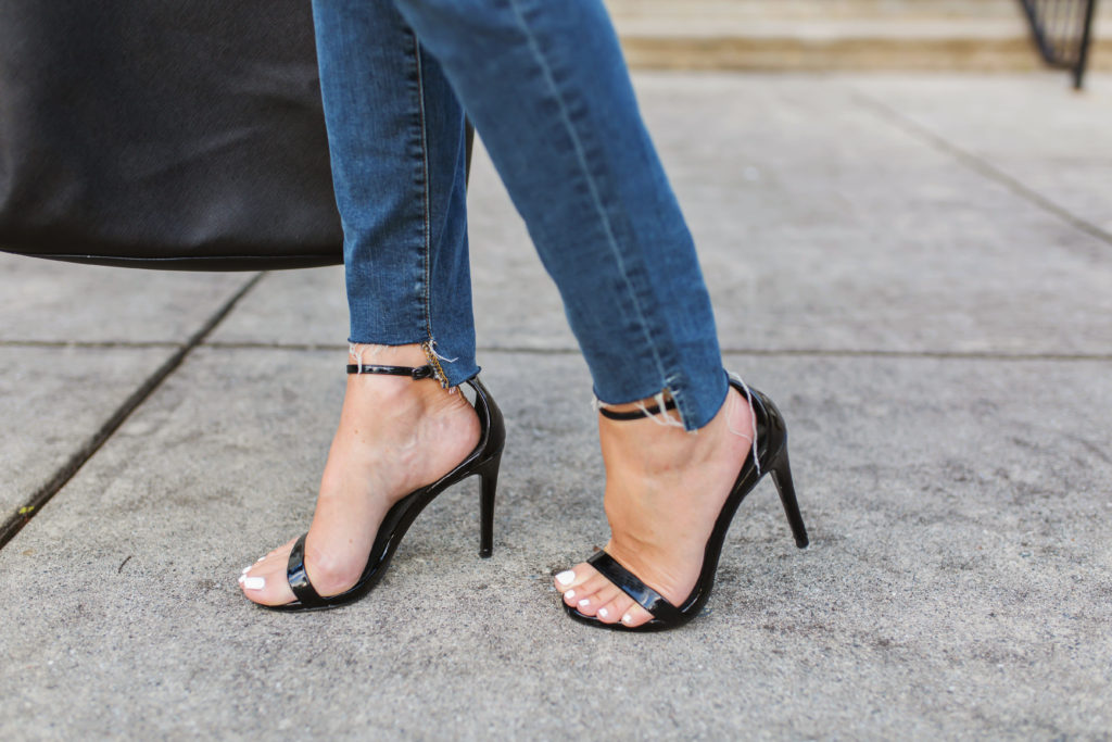 Ankle step denim via Peaches In A Pod blog.