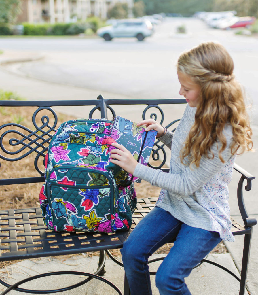 Vera Bradley Campus Tech Backpack in Falling Flowers via Peaches In A Pod blog.