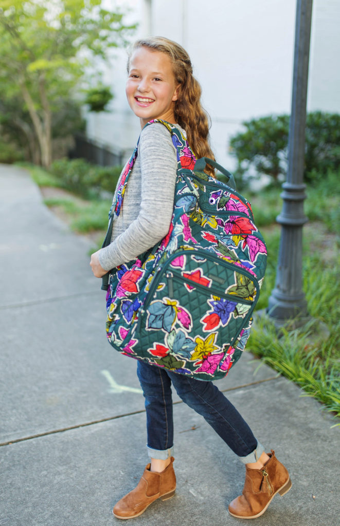 Back to school with Vera Bradley via Peaches In A Pod blog. Vera Bradley Falling Flowers pattern for back to school supplies.