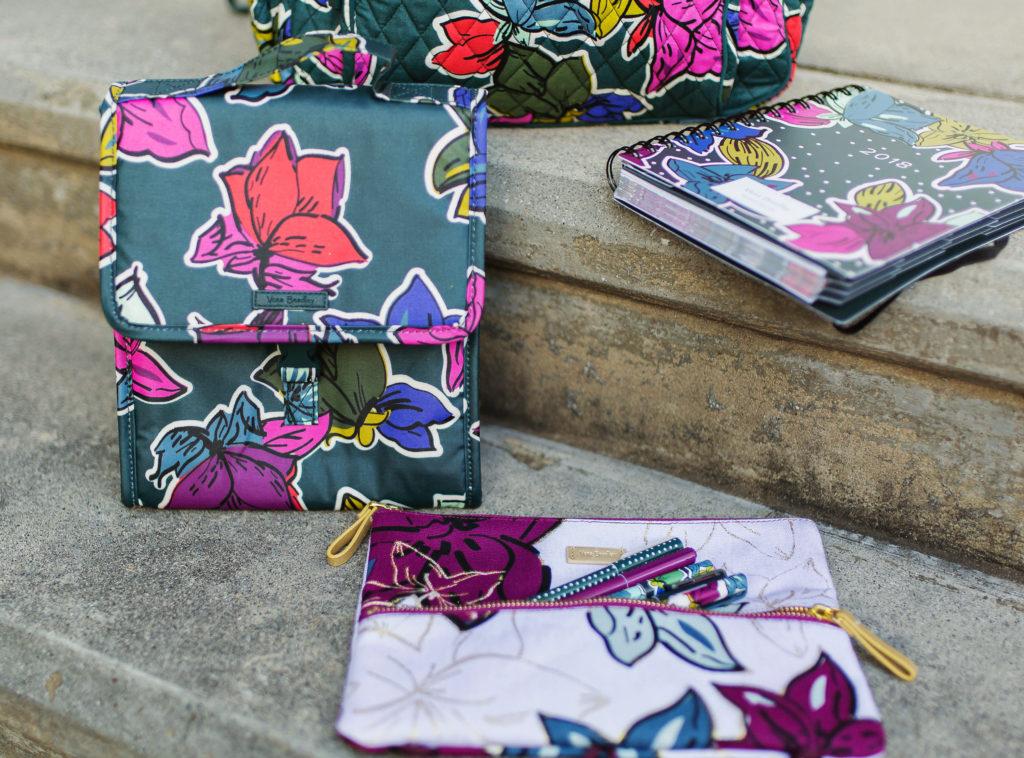 Vera Bradley Falling Flowers lunch sack via Peaches In A Pod blog.