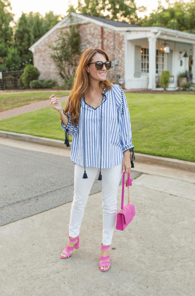 Summer outfit idea via Peaches In A Pod blog.