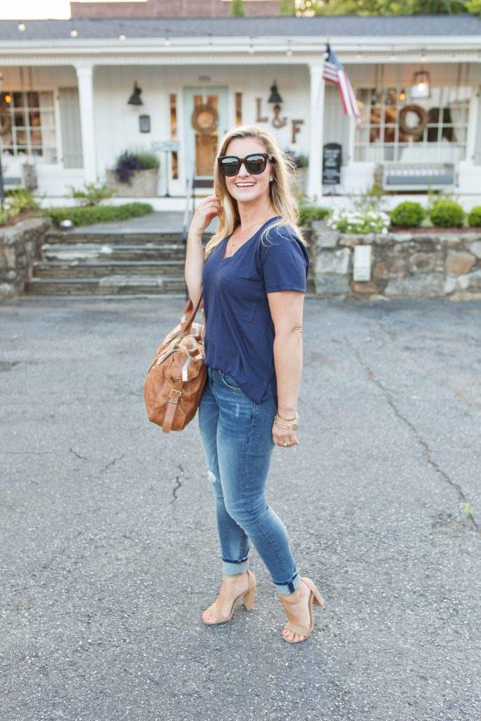 How to style a t-shirt to create the perfect date night outfit