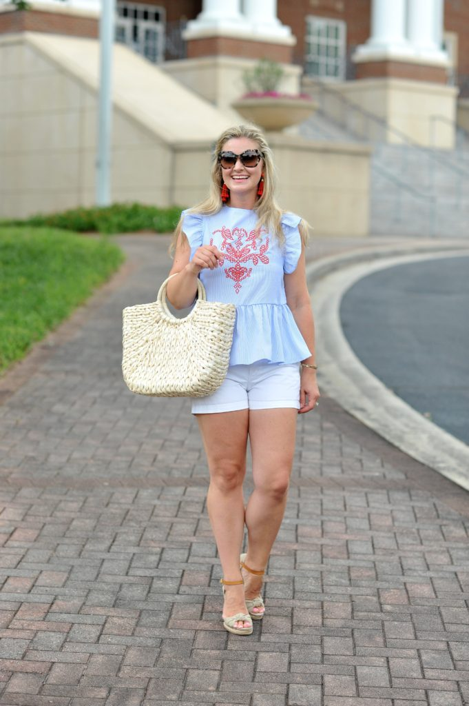 how to dress up white shorts to create the perfect summer outfit.