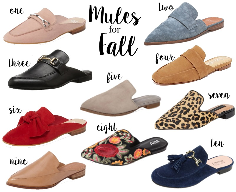 The best mules for fall via Peaches In A Pod blog. These are our picks for the best in this hot shoe trend.