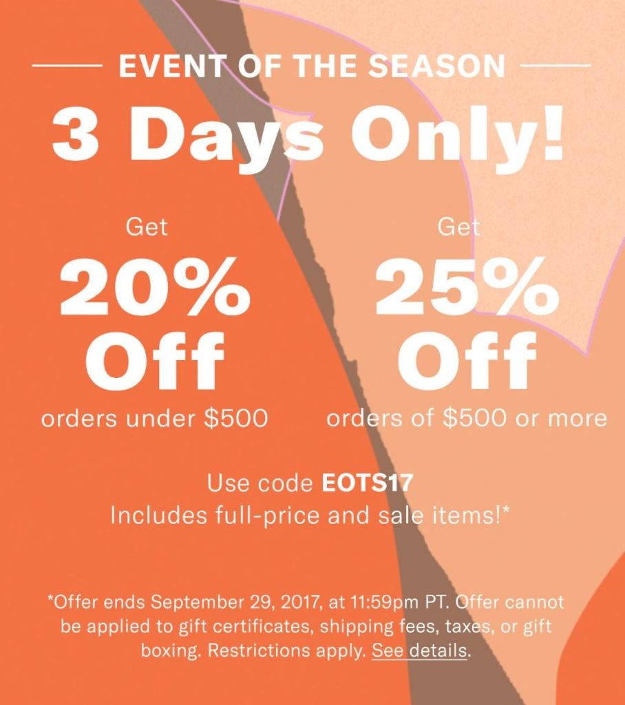 Shopbop sale of the season via Peaches In A Pod blog. Stop by and see our picks for this incredible sale.