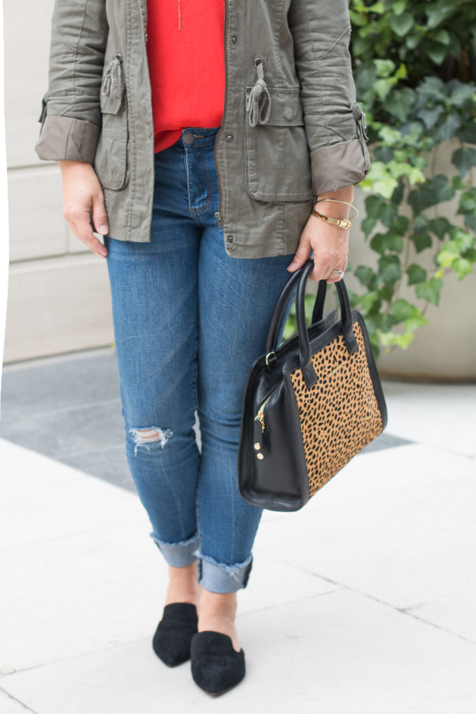 How to wear distressed jeans without looking sloppy.