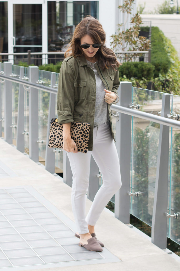 How to wear gray flats via Peaches In A Pod blog.