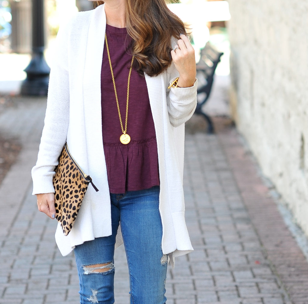 Our favorite necklace for fall via Peaches In A Pod blog. Julie Vos Pendant necklace.