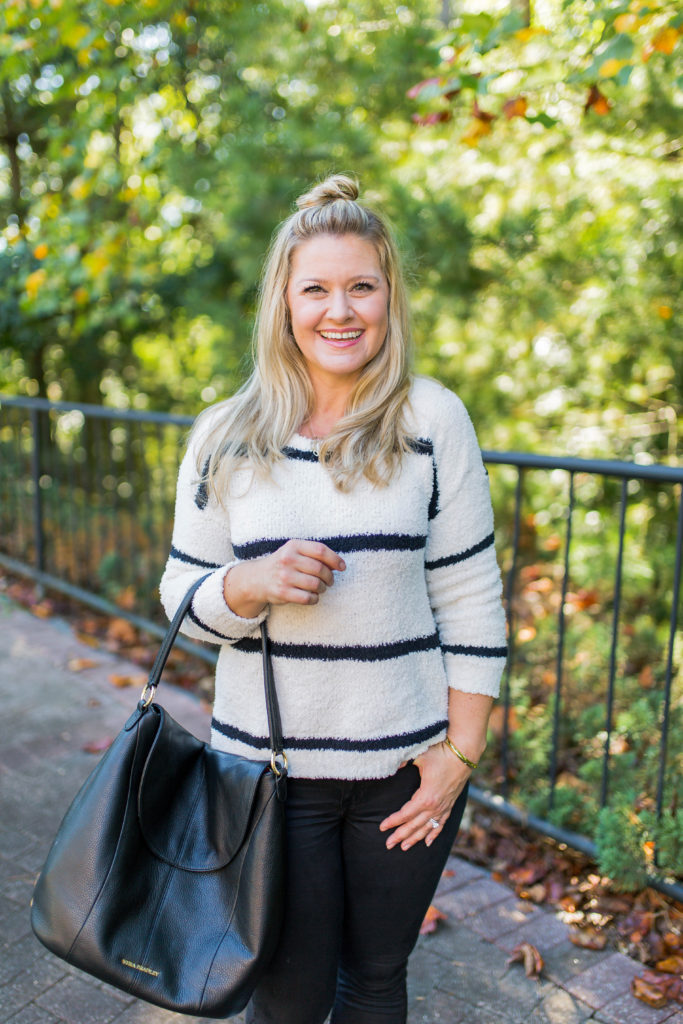The perfect striped sweater for fall that is so soft and easy to style.