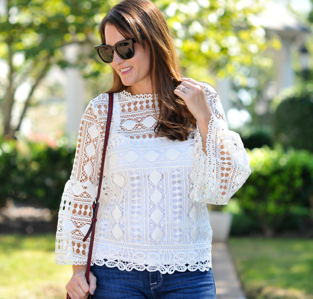 My new favorite top for fall via Peaches In A Pod blog.