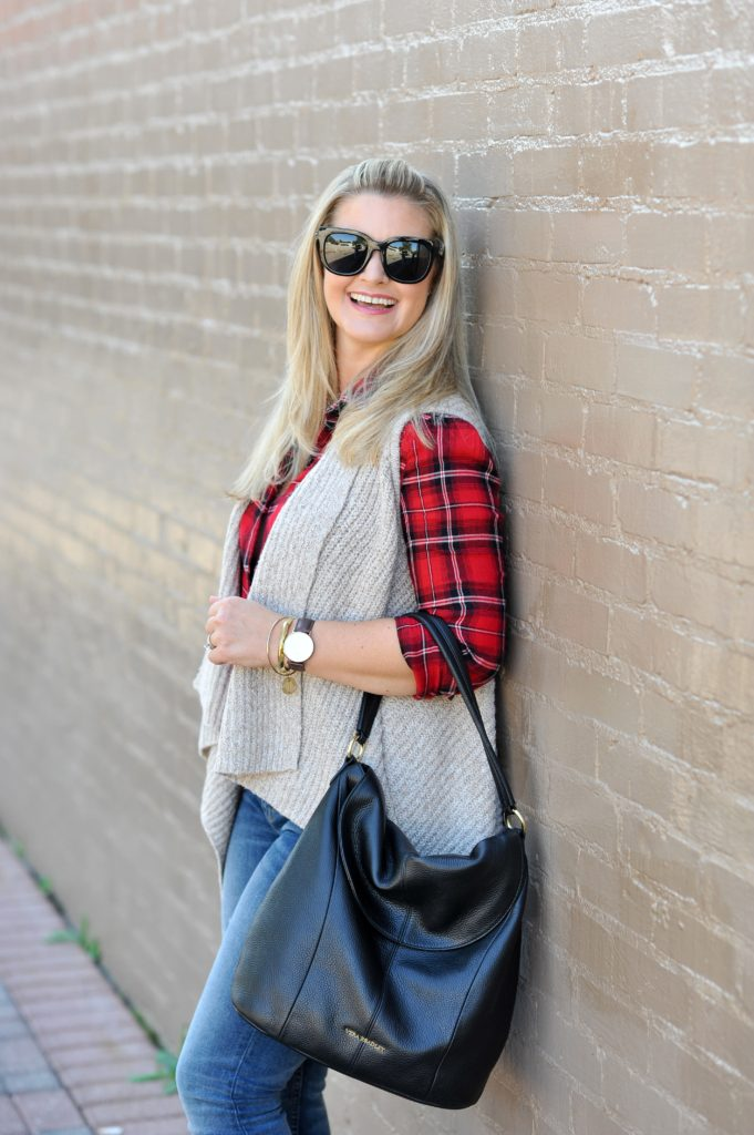 The perfect plaid shirt for layering in the Fall