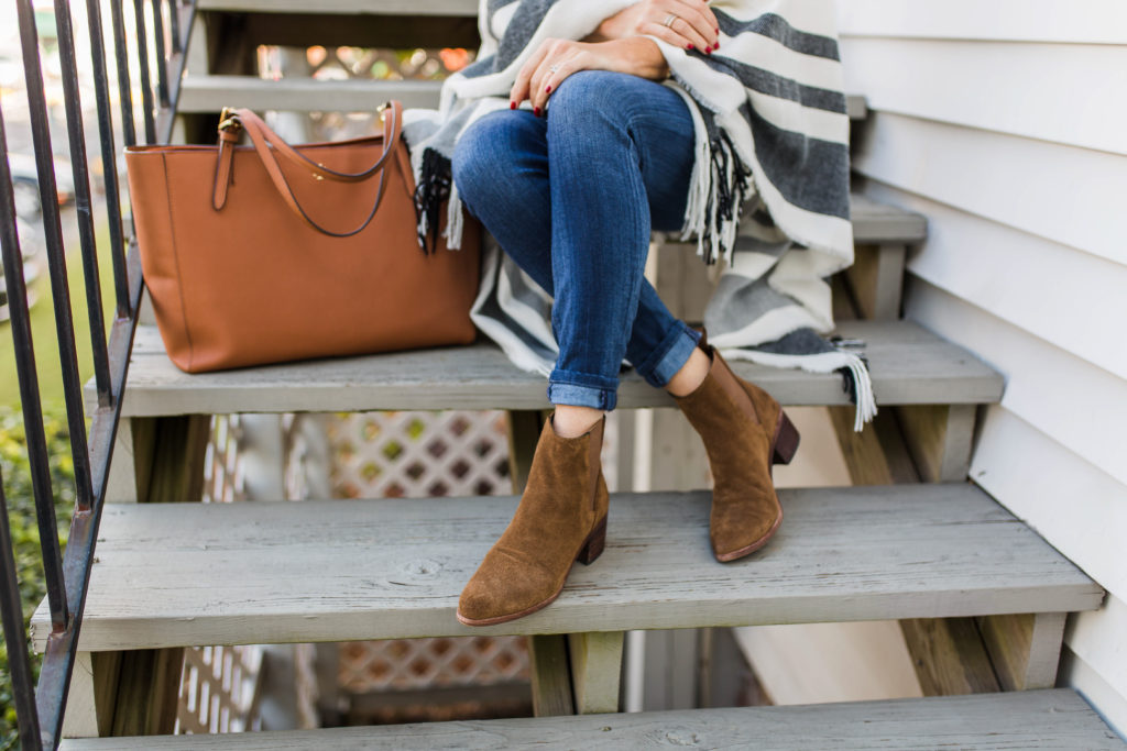 Dolce Vita Colbey ankle booties via Peaches In A Pod blog.