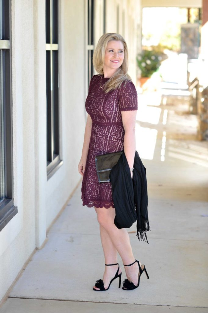 What to wear to a holiday party via Peaches In A Pod blog.