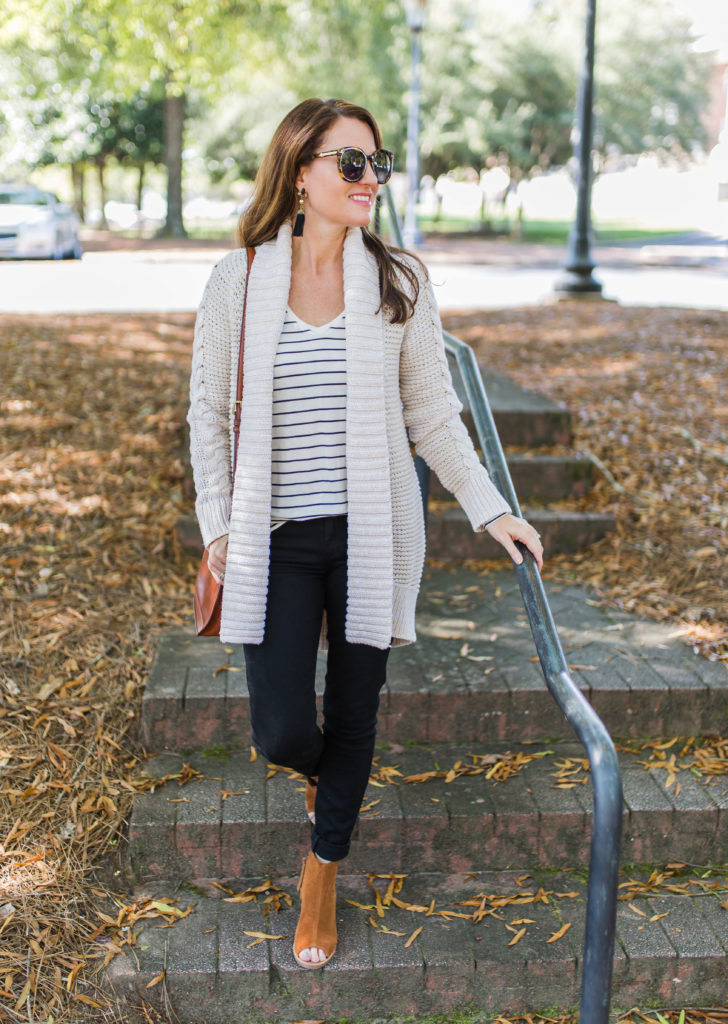 The perfect cardigan sweater for fall via Peaches In A Pod.