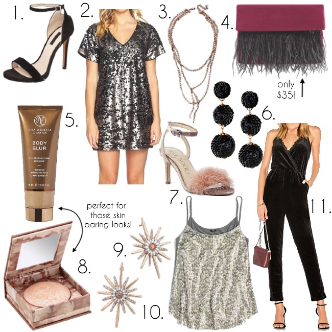 What to wear New Year's Eve via Peaches In A Pod blog. New Year's Eve outfit idea.