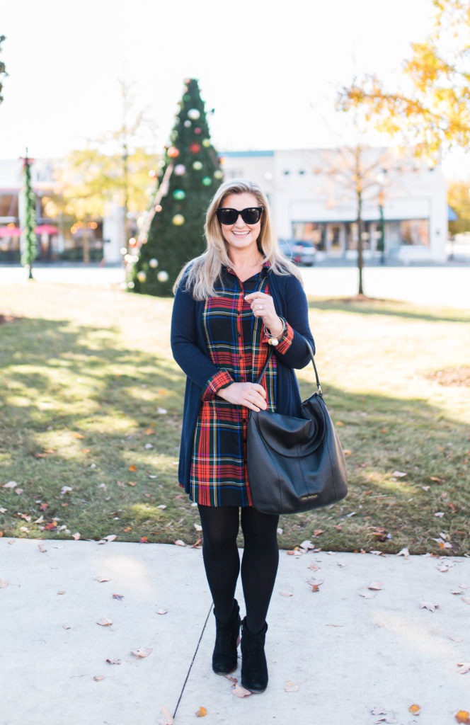 The perfect Christmas day outfit that is casual and cute.