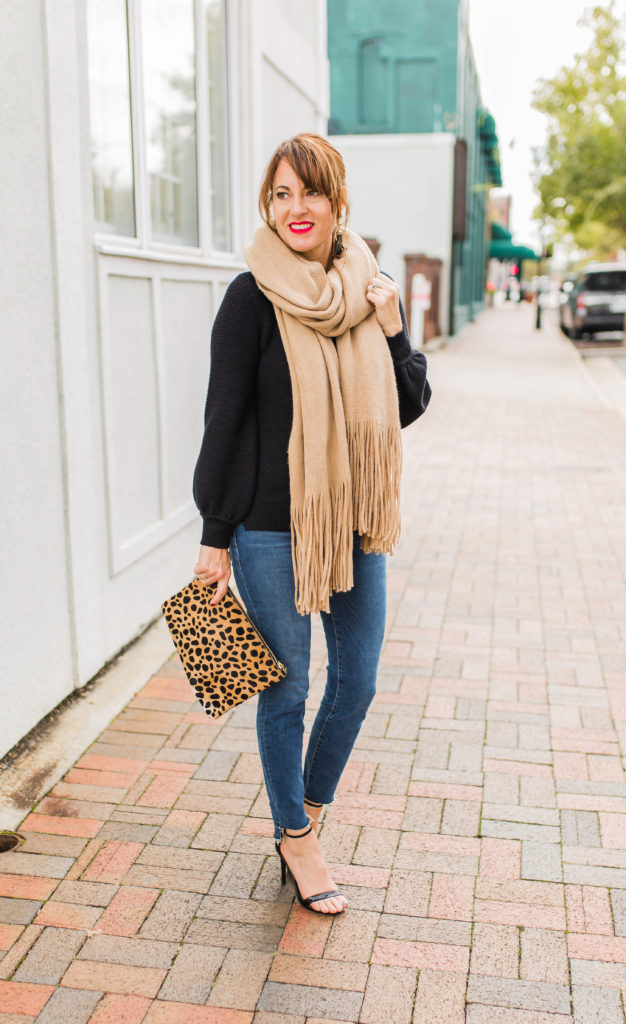 Free People Kolby fringe scarf via Peaches In A Pod blog.