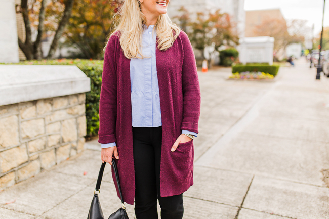 cute oversized cardigan outfit