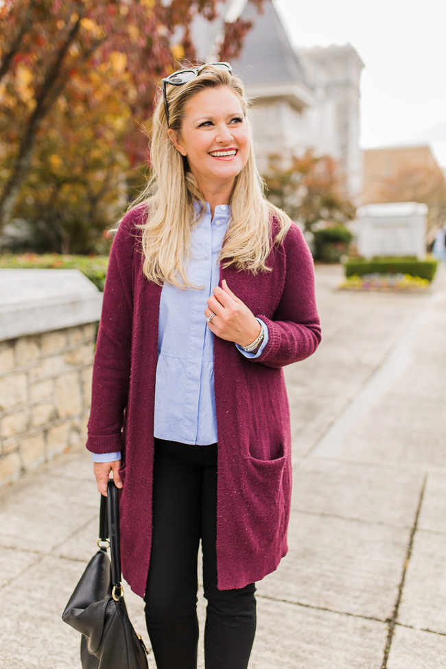how to style an oversize cardigan
