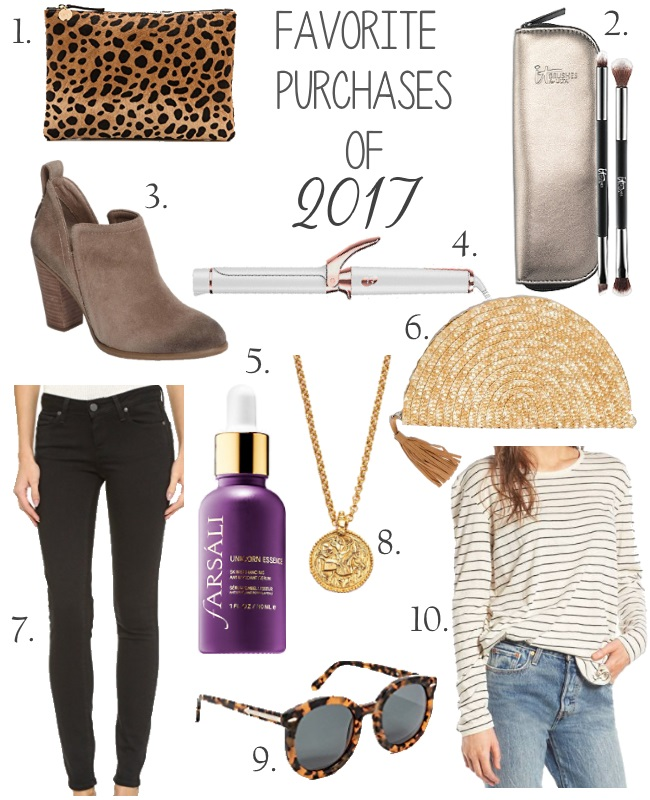 Favorite purchases of 2017 via Peaches In A Pod blog. The best in accessories, beauty, and style.