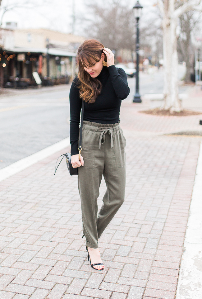 What to wear on a date night in the winter time via Peaches In A Pod blog.  Dressy winter style.