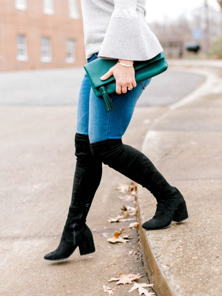 The perfect pair of black over the knee boots that are great for any body type.