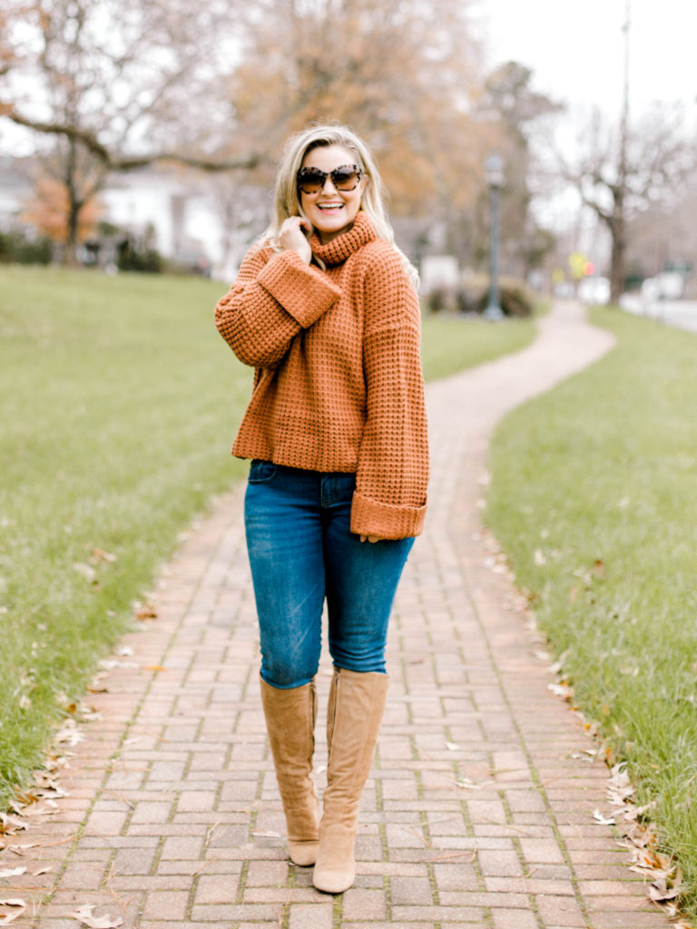 How to style a turtleneck sweater without looking frumpy.