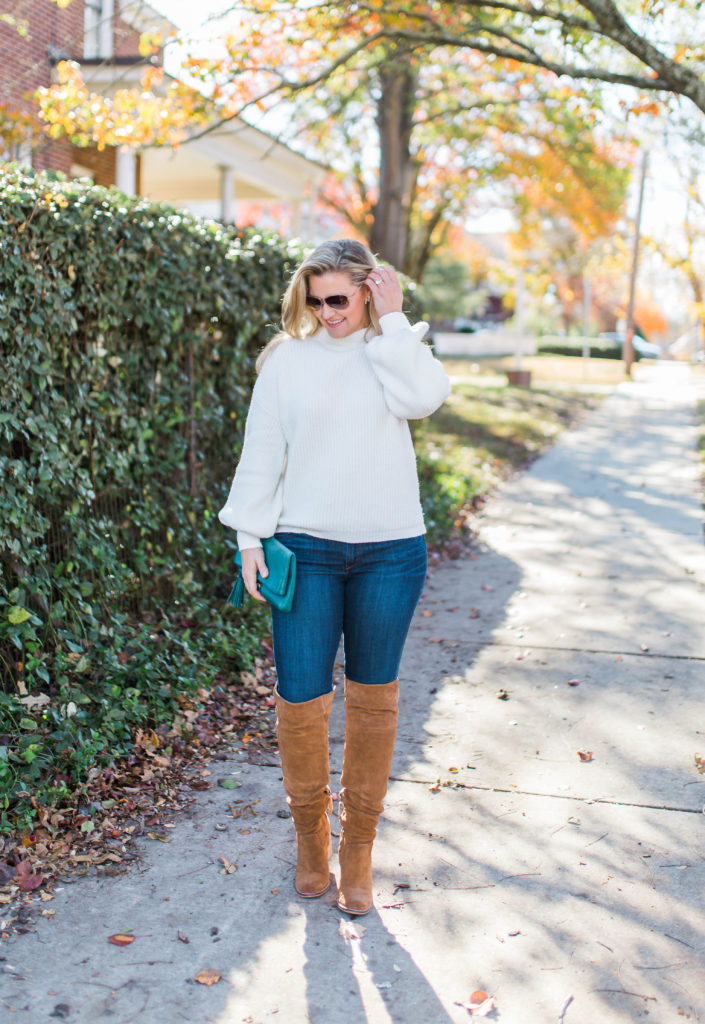 Cute sweater outfit that is perfect for a casual winter day.