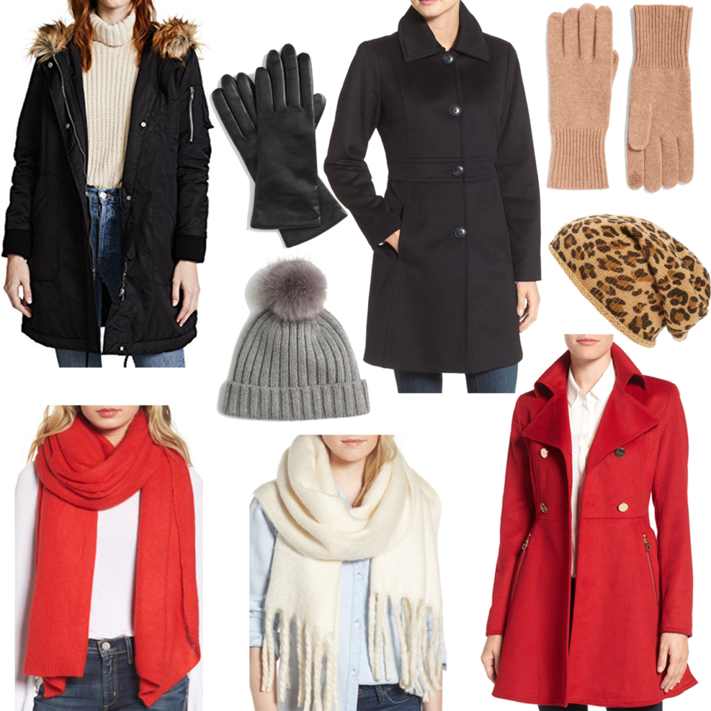 Must have cold weather accessories and coats for wintertime