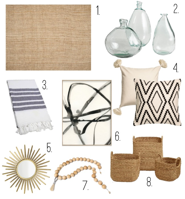 Currently Loving: Home Decor via Peaches In A Pod blog. Natural elements like jute rugs and baskets are dominating my home space and these are some of my favorite finds. You shop these by downloading the LIKEtoKNOW.it app and taking a pic of this collage.