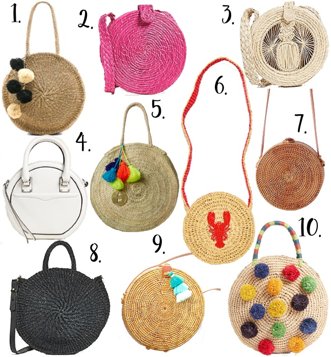 The Best Circle Bags via Peaches In A Pod bag. We love these circular handbags, and we have rounded up our favorites for you.
