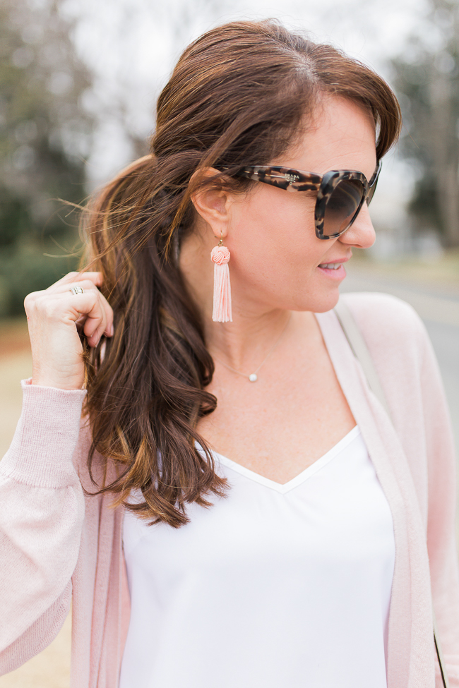 SugarFix by BaubleBar Tassel Drop Earrings with Knot via Peaches In A Pod blog.