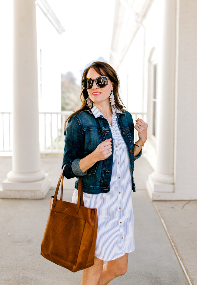 Abercrombie and Fitch Classic Shirtdress for women via Peaches In A Pod blog.
