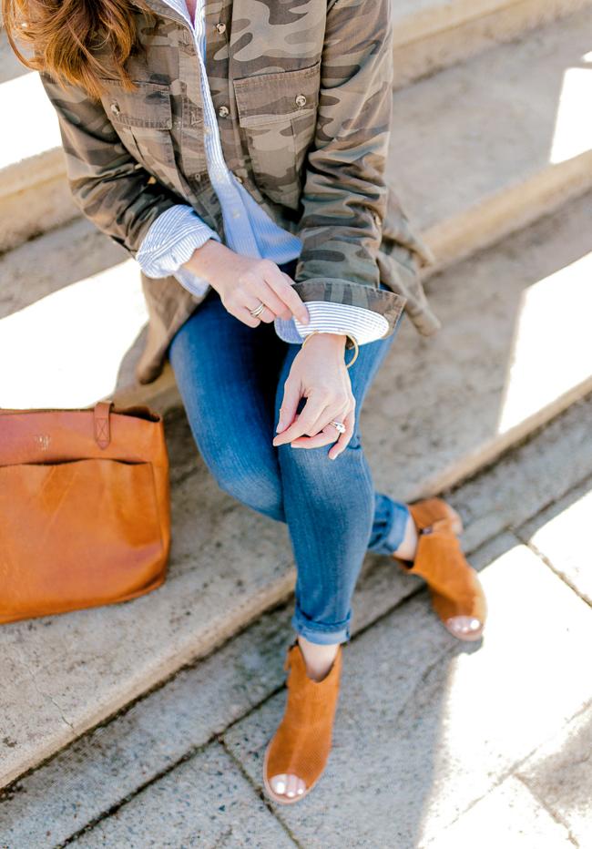 Cute Spring look for women via Peaches In A Pod blog.