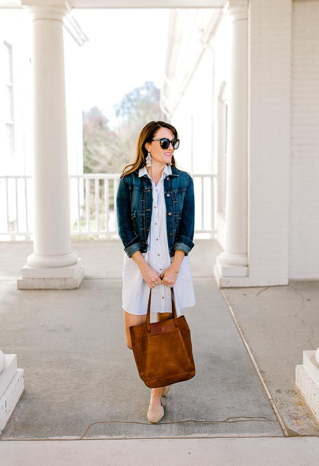 Cute Spring dress for women via Peaches In A Pod blog