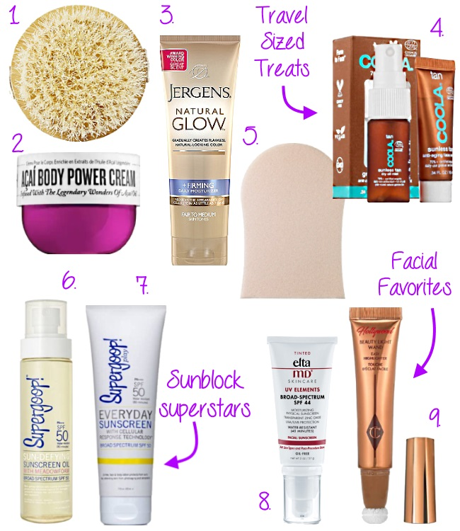 the best products to get that glow via Peaches In A Pod blog. These are our favorite beauty products to use in order to achieve that sun kissed glow this season.