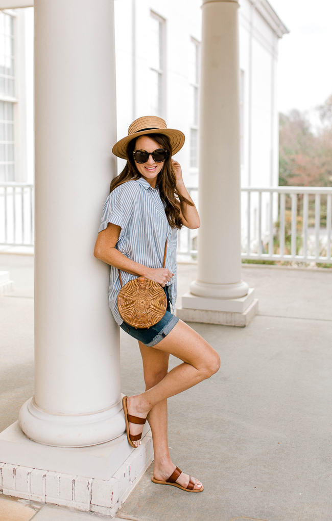 Madewell striped Central top outfit via Peaches in A Pod blog.