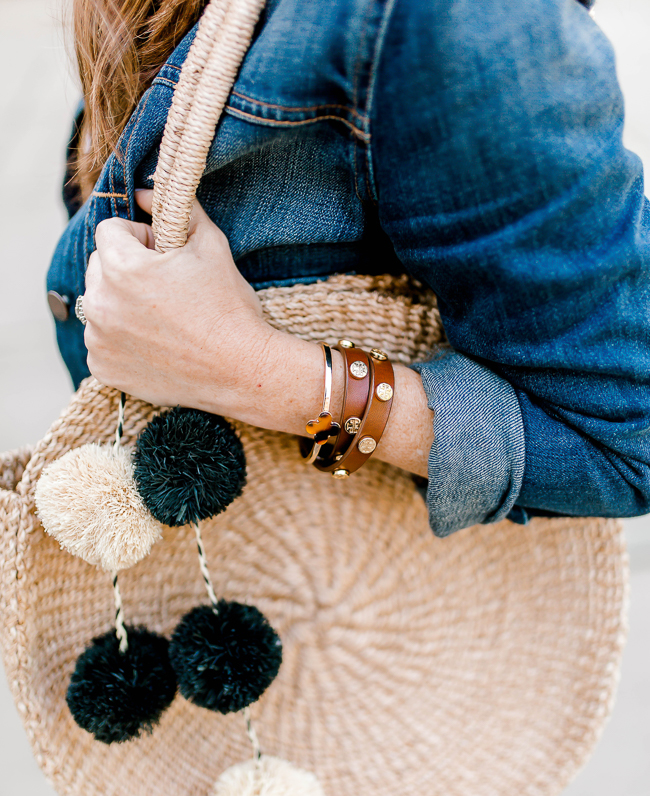 Alison + Aubrey tortoise bracelet via Peaches In A Pod blog.