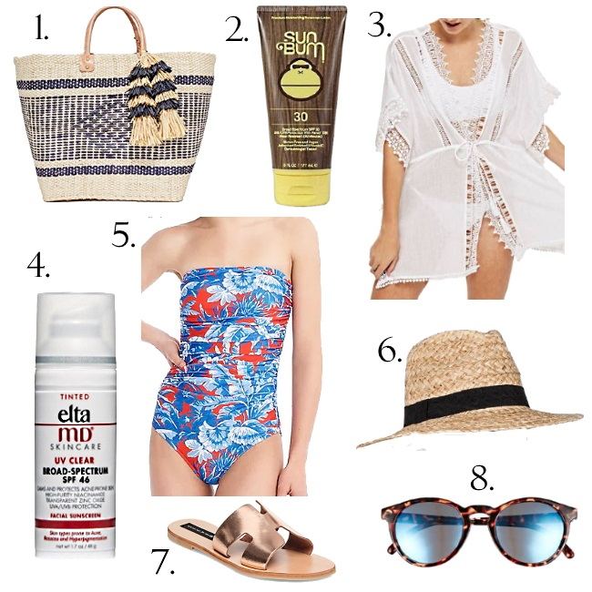 What to wear to the pool this Summer via Peaches In A Pod blog. Women's Summer sty