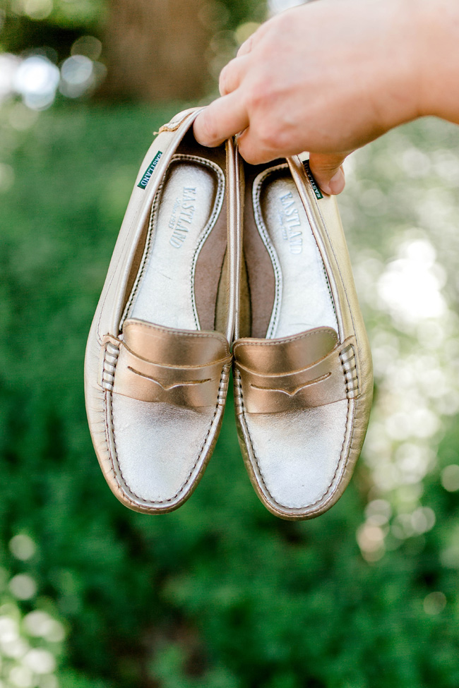 Eastland gold loafters