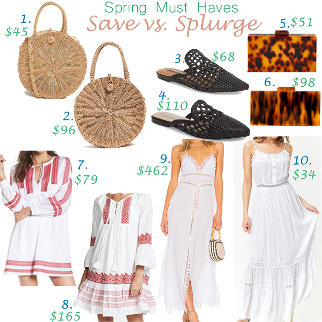 Spring Must Haves: Save vs. Splurge