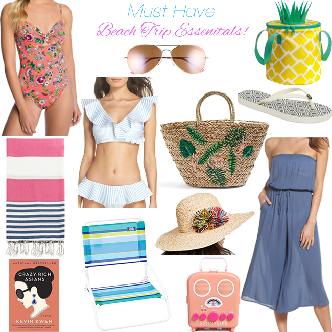The best list of what to bring to the beach! - Summer Beach Trip Essentials