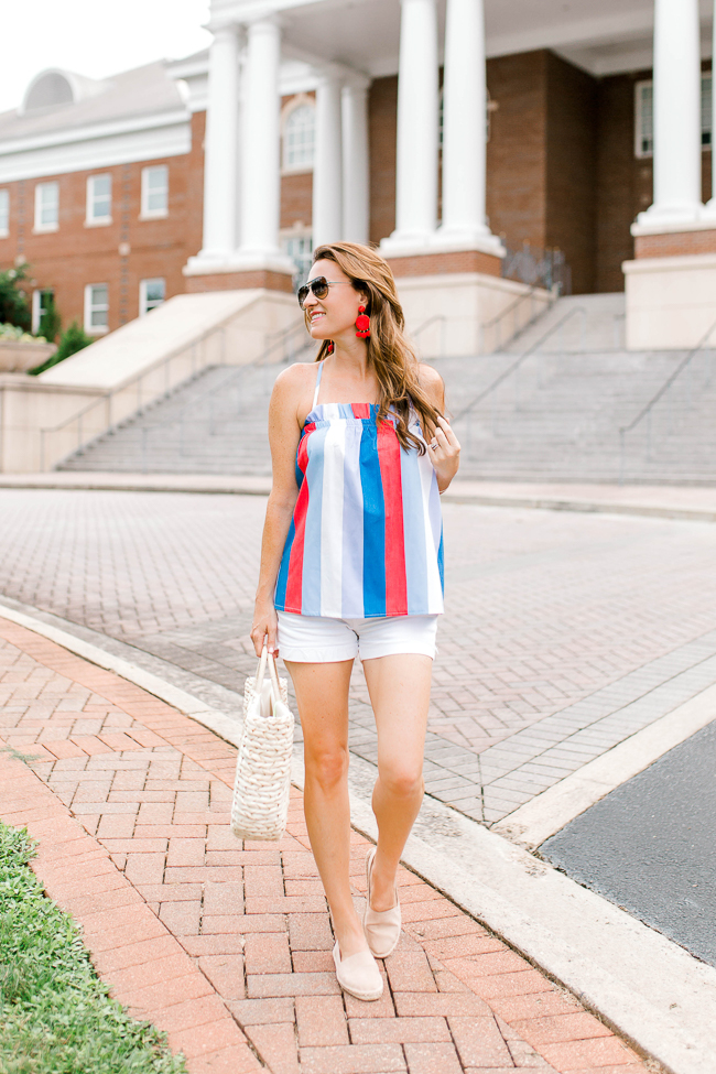 Fourth of July outfit idea via Peaches In A Pod blog.