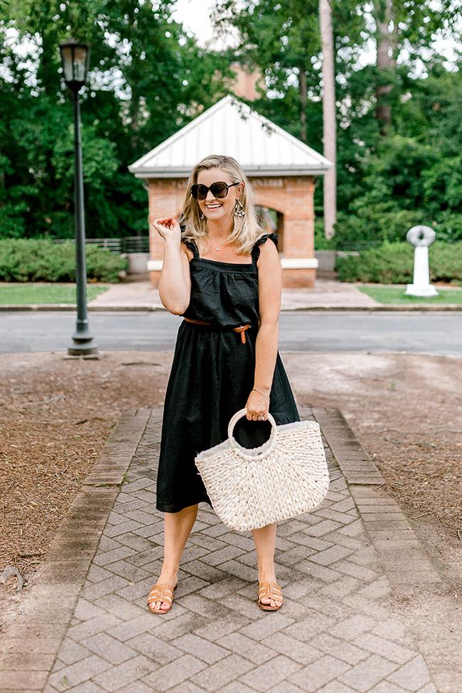 casual summer black dress