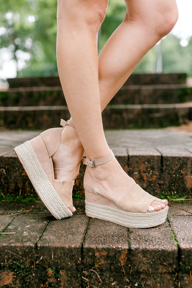 Steve Madden Nude Apolo wedges via Peaches In A Pod blog.