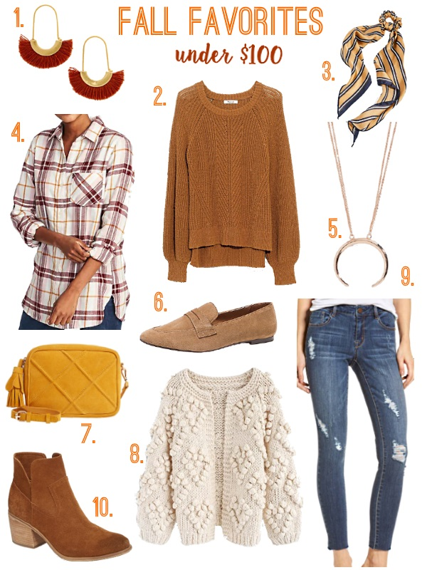 fall favorites under $100